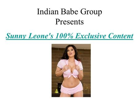Indian Babe Group Presents