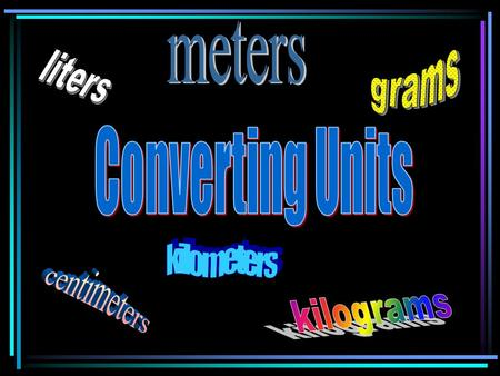 how to change centimeters to meters
