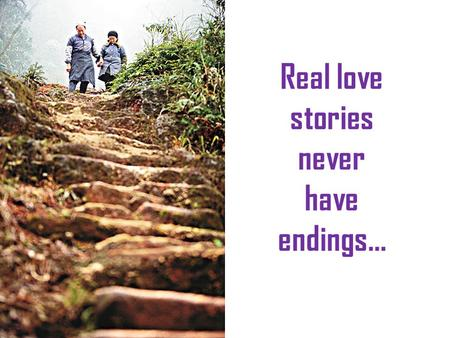 Real love stories never have endings…. Over 50 years ago, Liu Guojiang a 19 year-old boy, fell in love with a 29 year-old widowed mother named Xu Chaoqin..