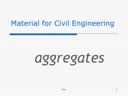 Material for Civil Engineering
