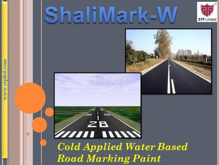 Cold Applied Water Based Road Marking Paint www.stpltd.com.
