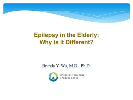 Epilepsy in the Elderly: