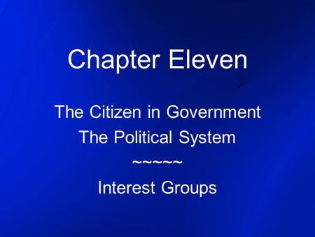 interest groups essay