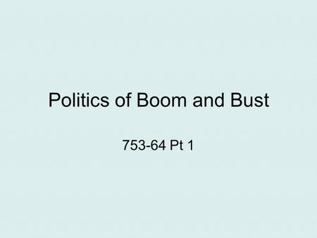 "Politics of Boom and Bust 753-64 Pt 1. Harding on the Presidency ""God! What a job!"" Not so much his own corruption, more not being able to control people."