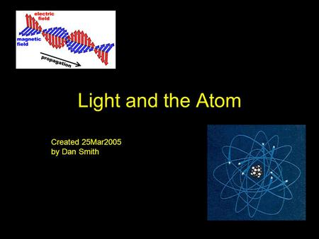 Light and the Atom Created 25Mar2005 by Dan Smith.