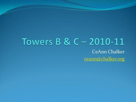 CeAnn Chalker Disclaimer This presentation was prepared using draft rules. There may be some changes in the final copy of the rules.