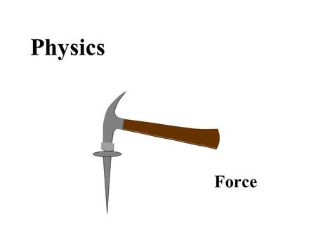 Physics Force. What is force? –Any push or pull that tends to cause a change in motion –measured in Newtons (N) or pounds (lbs) 1 N = 0.225 lbs –examples.