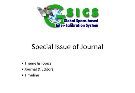Special Issue of Journal Theme & Topics Journal & Editors Timeline.