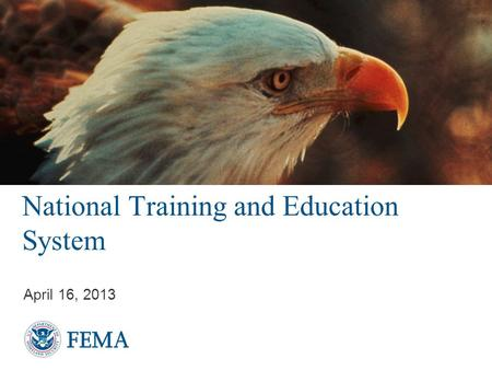 National Training and Education System April 16, 2013.