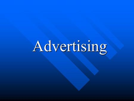 Advertising Advertising. What is Advertisements? a paid announcement, as of goods for sale, in newspapers or magazines, on radio or television, etc.a.