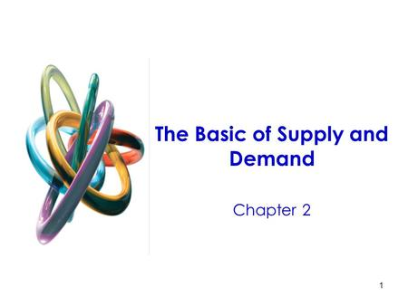 1 The Basic of Supply and Demand Chapter 2. 2 The Basics of Supply and Demand Understanding and predicting how changing world economic conditions affect.