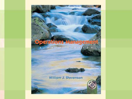 11-1Inventory Management William J. Stevenson Operations Management 8 th edition.