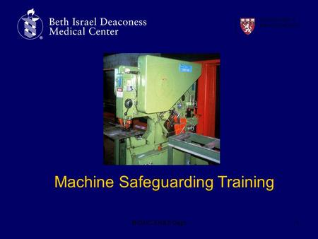 Machine Safeguarding Training