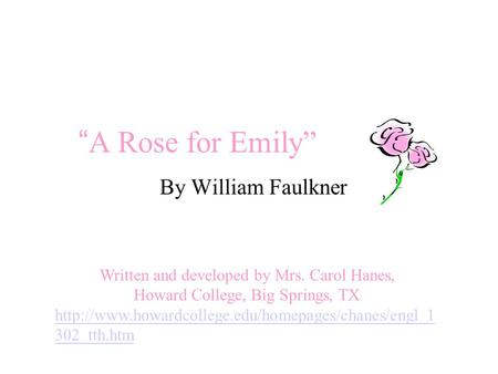 "Setting: William Faulkner's ""A Rose for Emily"""