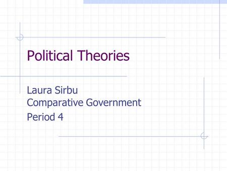Laura Sirbu Comparative Government Period 4