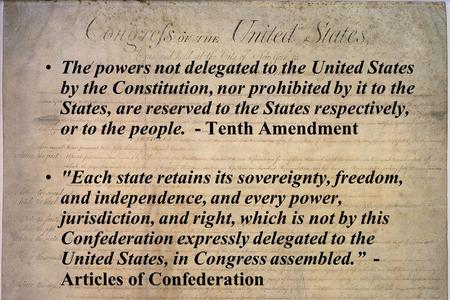 The powers not delegated to the United States by the Constitution, nor prohibited by it to the States, are reserved to the States respectively, or to the.