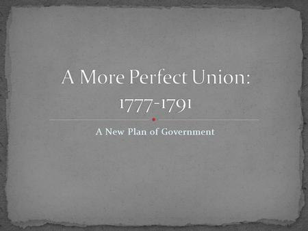 A New Plan of Government. As Constitution was sent out to states for ratification… Citizens saw it printed in newspapers and pamphlets Met w/ great debate.
