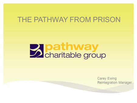 THE PATHWAY FROM PRISON Carey Ewing Reintegration Manager.