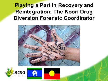 Playing a Part in Recovery and Reintegration: The Koori Drug Diversion Forensic Coordinator.