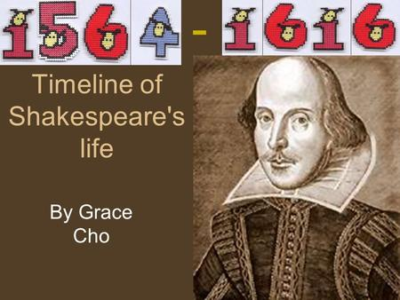 Timeline of Shakespeare's life By Grace Cho -. Shakespeare's Birth No one actually knows Shakespeare's real birthday On Shakespeare's record, he was baptized.
