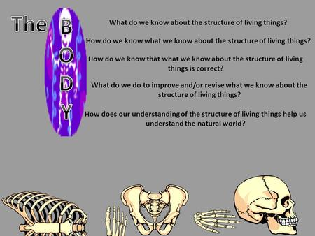 What do we know about the structure of living things? How do we know what we know about the structure of living things? How do we know that what we know.
