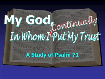 A Study of Psalm 71. Delivers me (v. 2, 4) – Col. 1:13; 2 Pet. 2:7-9 Rescues me (v. 2) – 1 Cor. 10:13; 2 Tim. 2:26 Hears me (v. 2) – 1 John 5:14-15; 1.