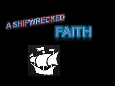 """Holding faith, and a good conscience; which some having put away concerning faith have made shipwreck:"" 1 Timothy 1:19 v. 18 - Charge to Timothy v. 19."