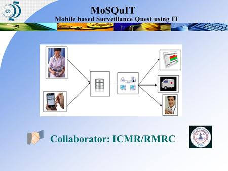 Collaborator: ICMR/RMRC Mobile based Surveillance Quest using IT MoSQuIT.