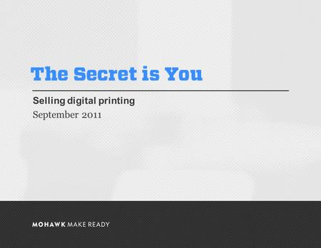 September 2011 | The Secret is You Selling digital printing September 2011 0.