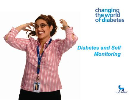 Write Presentation Title Date in Footer 1 Diabetes and Self Monitoring.