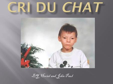 Cri du chat BY Hociel and John Paul.