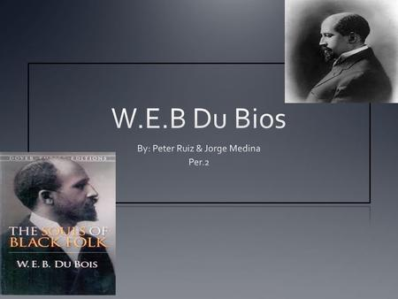 Who is W.E.B. Du Bois? W.E.B. Du Bois was an American civil rights activist, leader, Pan-Africans, sociologist, educator, historian, writer, editor, poet,