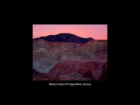 Morenci Open-Pit Copper Mine, Arizona. Painted Desert, Arizona.