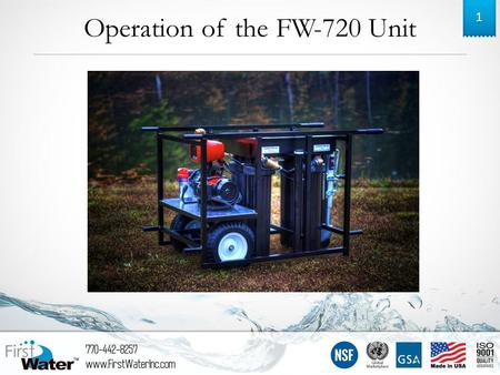 Operation of the FW-720 Unit 1. Side 1 2 Inlet Hand Crank.