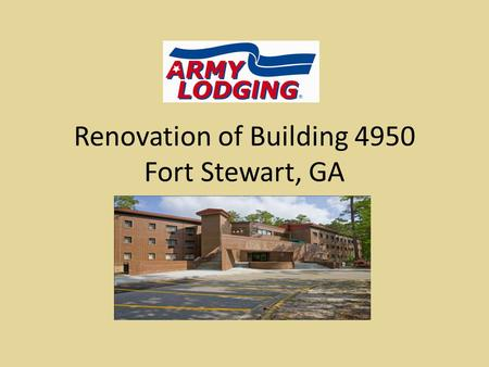 Renovation of Building 4950 Fort Stewart, GA. Corridors New HVAC system, drop ceiling, lighting, and textured walls. Before: Exposed block walls, industrial.