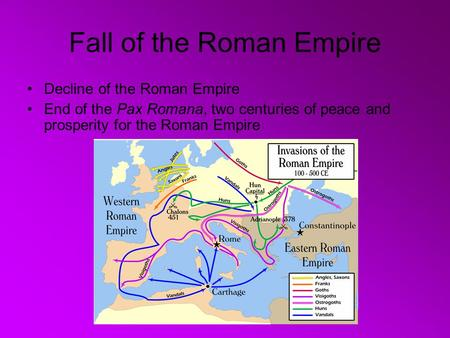 a description of the fall of the roman empire What led to the fall of the great roman empire  of debauching the currency to  fill the gap between rising expenditures and falling revenues.