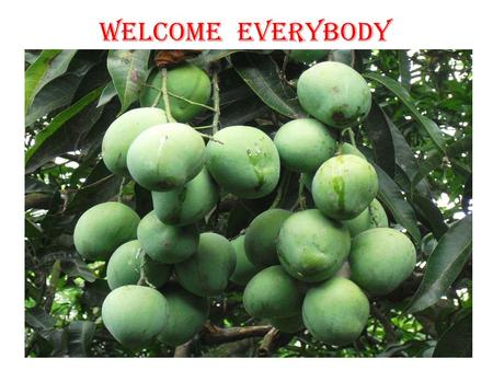 WELCOME EVERYBODY.