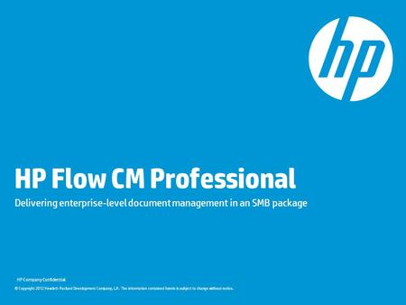 HP Flow CM Professional
