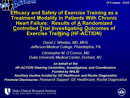 Efficacy and Safety of Exercise Training as a Treatment Modality in Patients With Chronic Heart Failure: Results of A Randomized Controlled Trial Investigating.
