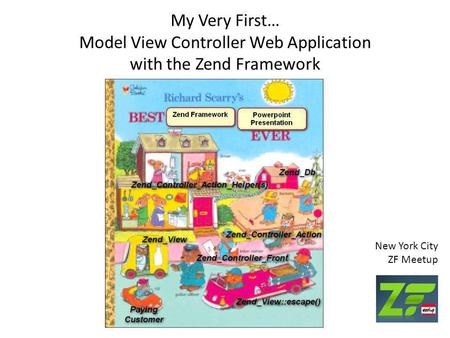 My Very First… Model View Controller Web Application with the Zend Framework New York City ZF Meetup.