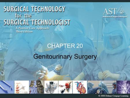 © 2008 Delmar Cengage Learning. CHAPTER 20 Genitourinary Surgery.
