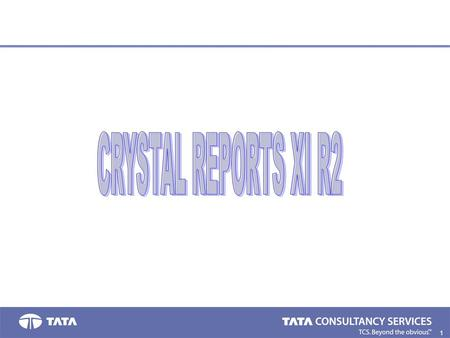 1.. 2. Introduction to Crystal Reports Allows you to produce the report you want from virtually any data source. Designed to help analyze and interpret.