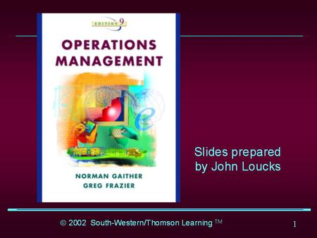 1. 2 Chapter 1 Introduction to Operations Management.