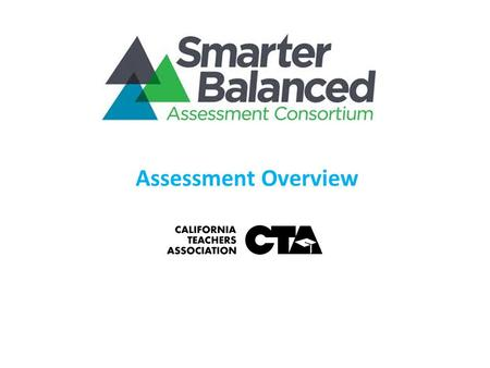 Assessment Overview. 2 SBAC Member States 2  27 states representing 43% of K-12 students  22 governing 5 advisory states.