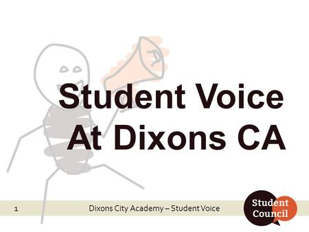 Dixons City Academy – Student Voice Student Voice At Dixons CA 1.
