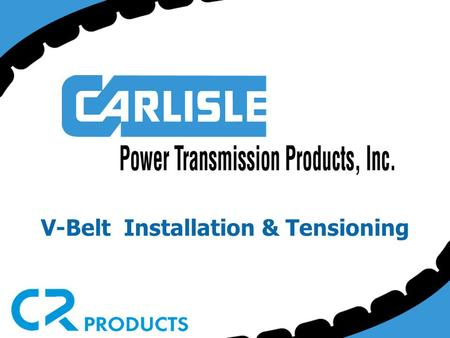 V-Belt Installation & Tensioning