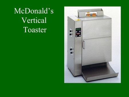McDonald's Vertical Toaster. View inside cabinet Relays Drive Train Motor with fan in place. Plate heater.