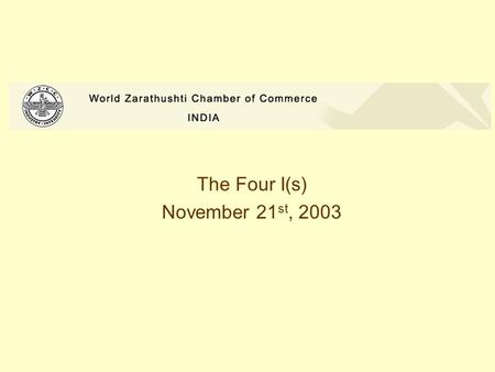 The Four I(s) November 21 st, 2003. The Four I(s) Individual Interaction Information Innovation.