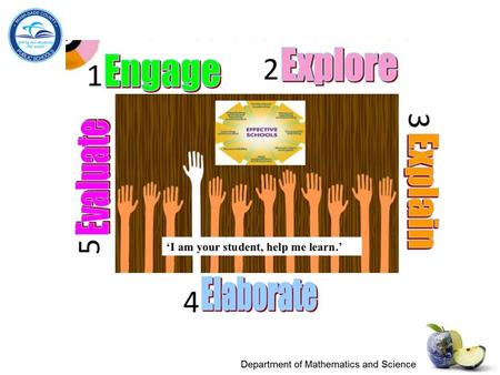 What are the 5Es? The 5Es represent five stages of a sequence for teaching and learning: Engage, Explore, Explain, Extend (or Elaborate ), and Evaluate.