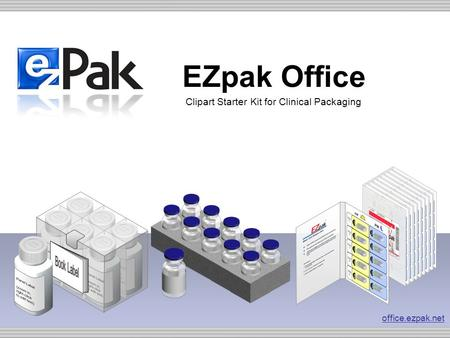 EZpak Office Clipart Starter Kit for Clinical Packaging office.ezpak.net.